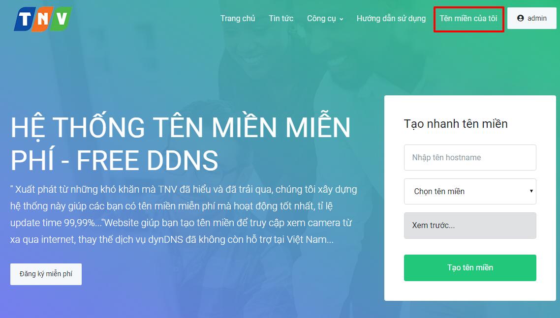 Hướng dẫn đăng ký Tên miền VinaDDNS.Com